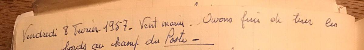 vendredi 8 février 1957 - Tirer les bords