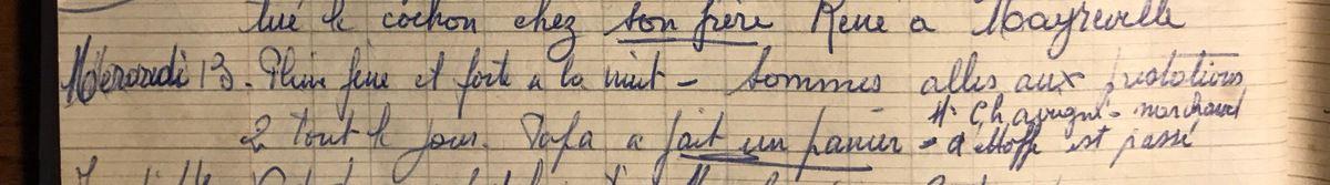 Mercredi 13 février 1957 - Un marchand d'étoffe passe