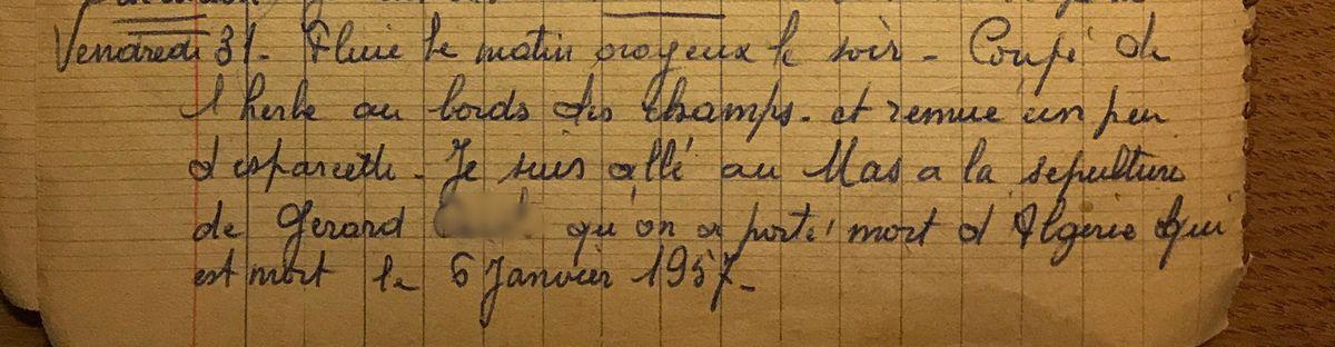 Vendredi 31 mai 1957 - Un enterrement