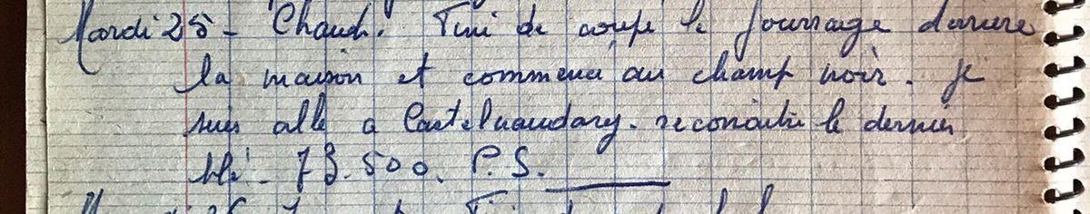 Mardi 24 septembre 1957 - A la Coopérative