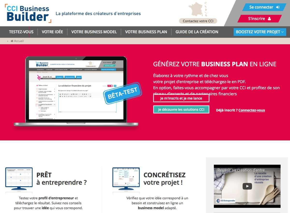 Cci france offre un service en ligne d 39 aide la cr ation for Idee creation entreprise 2016