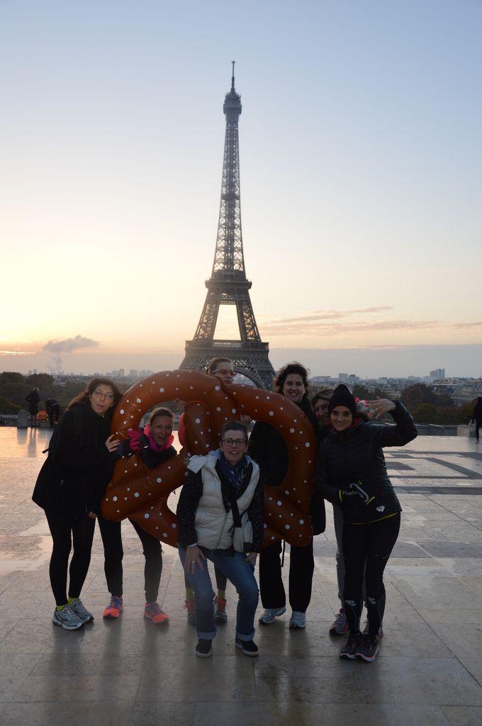 Levé du soleil sur le parvis de Trocadero ,l'endroit est glacial mais magique !