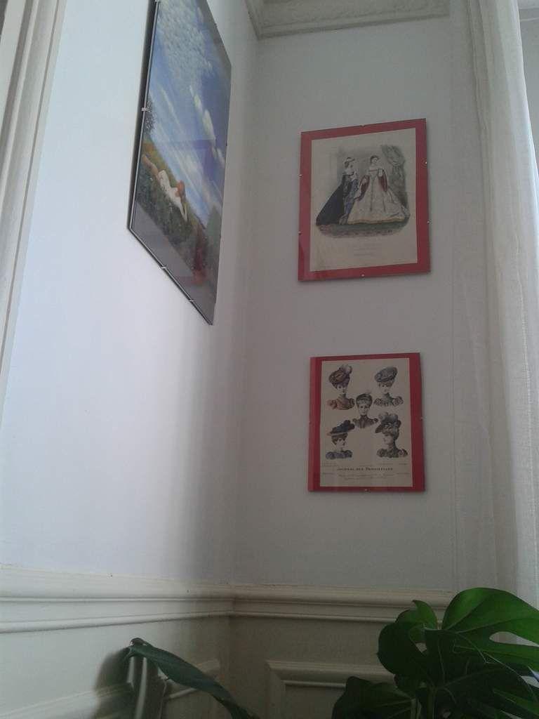 """Le coin de Domitille, notre reproduction d'un peintre découvert à l'expo """"les trèsors de budapest"""" et mes gravures de modes 1900"""