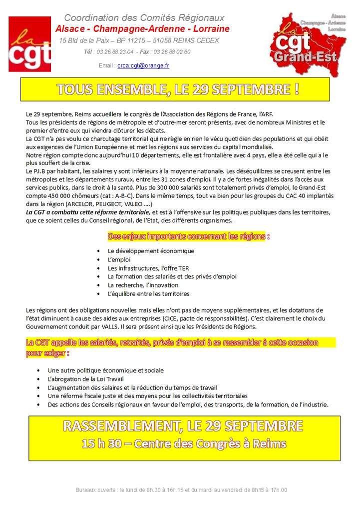Congrès de l'Association des Régions de France