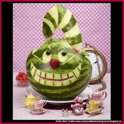Turn A Watermelon Into The Cheshire Cat