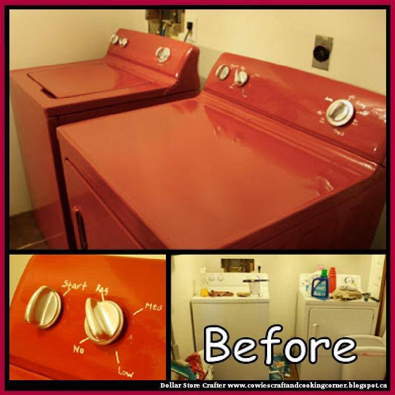 Makeover A Washer And Dryer Using Appliance Epoxy Spray Paint