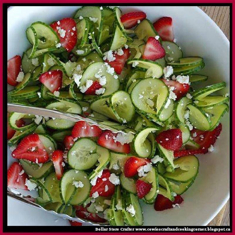 Cucumber &amp&#x3B; Strawberry Salad With Homemade Poppy-seed Dressing