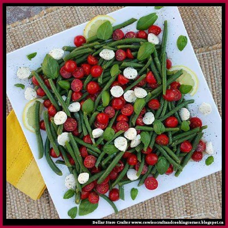Summertime Caprese Green Bean Salad