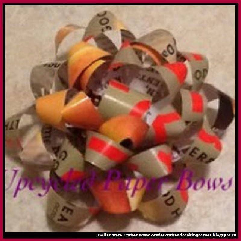 Use Old Magazines To Make Beautiful Gift Bows