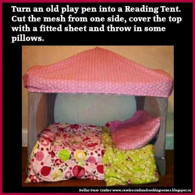 Turn An Old Play Pen Into A Reading Nook Tent