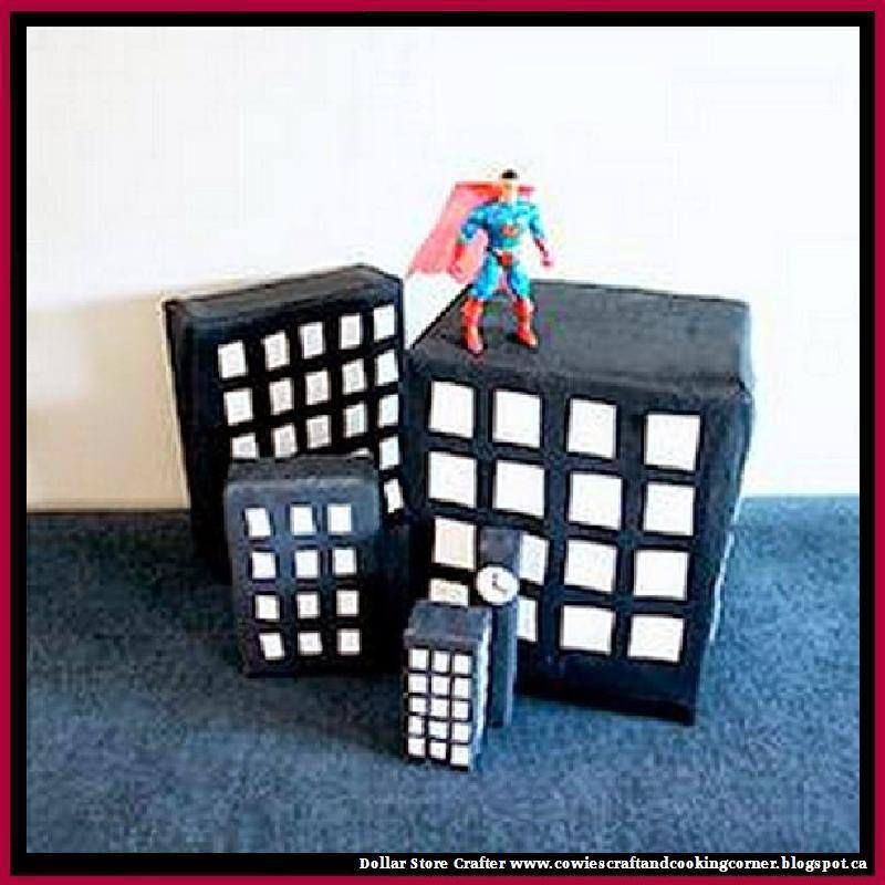 Make This 3D City For A Superman Themed Birthday Party