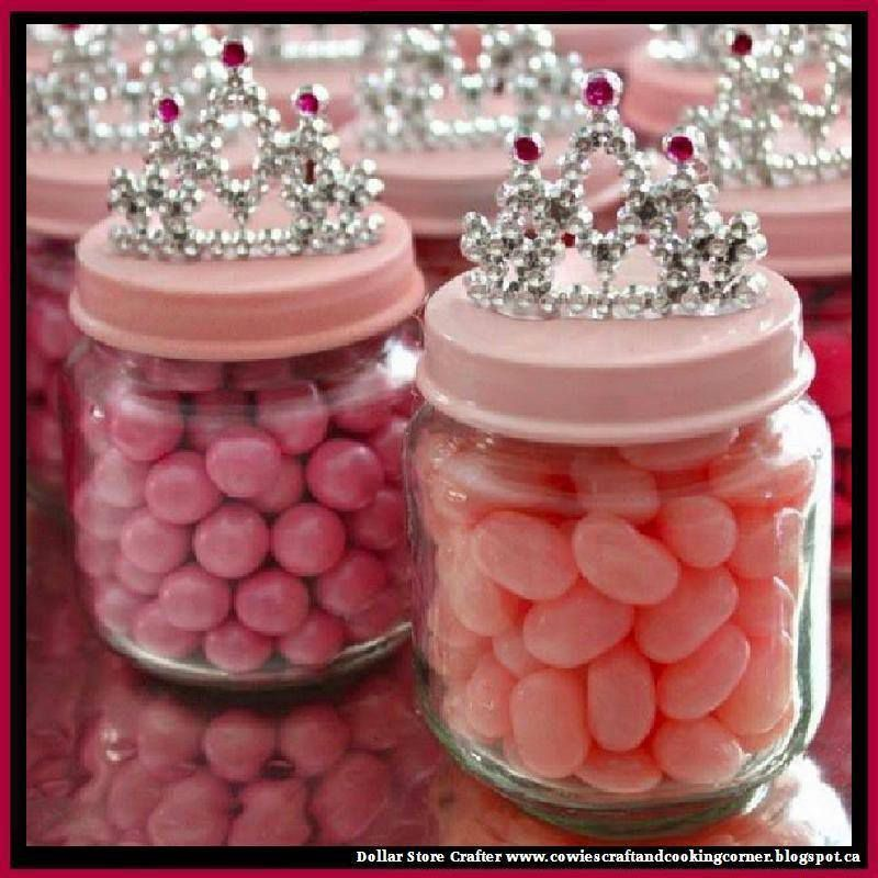 Turn Empty Baby Food Jars Into Princess Crown Party Favors