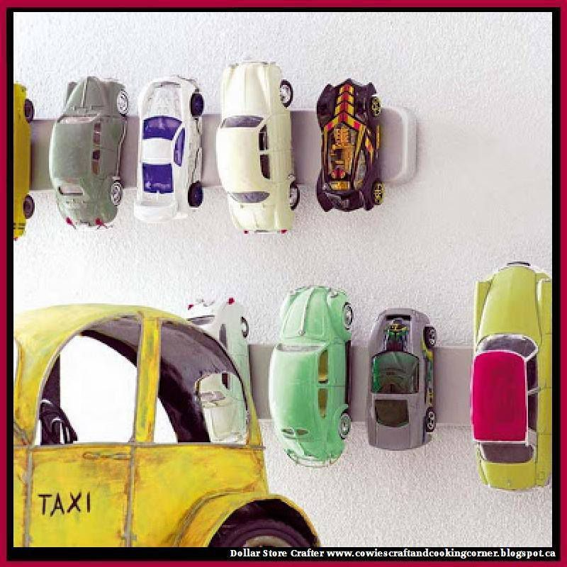 Turn A Magnetic Knife Strip Into Hot Wheels Car Wall Art / Storage Center