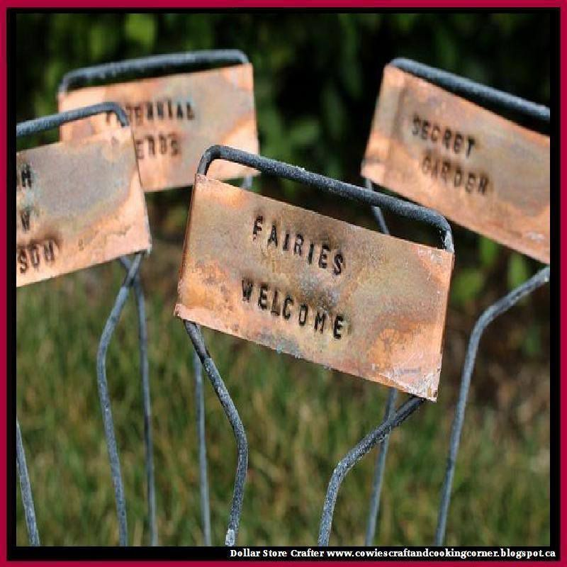 Rustic Hand Stamped Copper Garden Markers That Will Jazz Up Your Garden