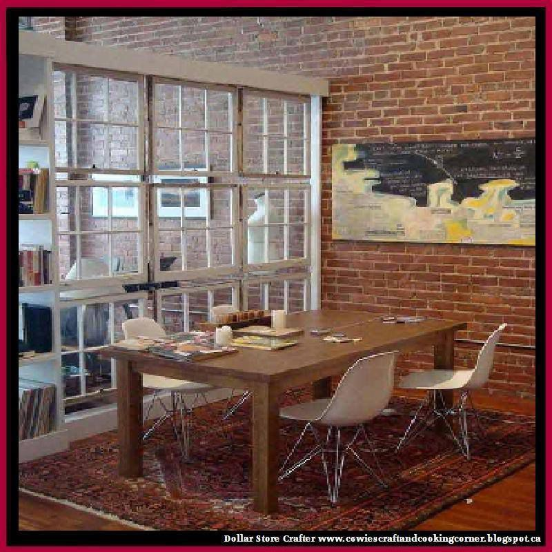 Turn Old Windows Into Room Dividers