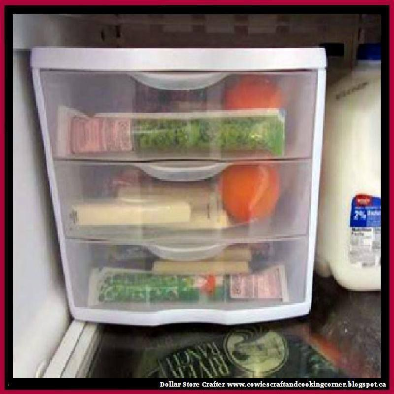 Turn A Small Set Of Drawers Into A Refrigerator 'each child has their own' Snack Box