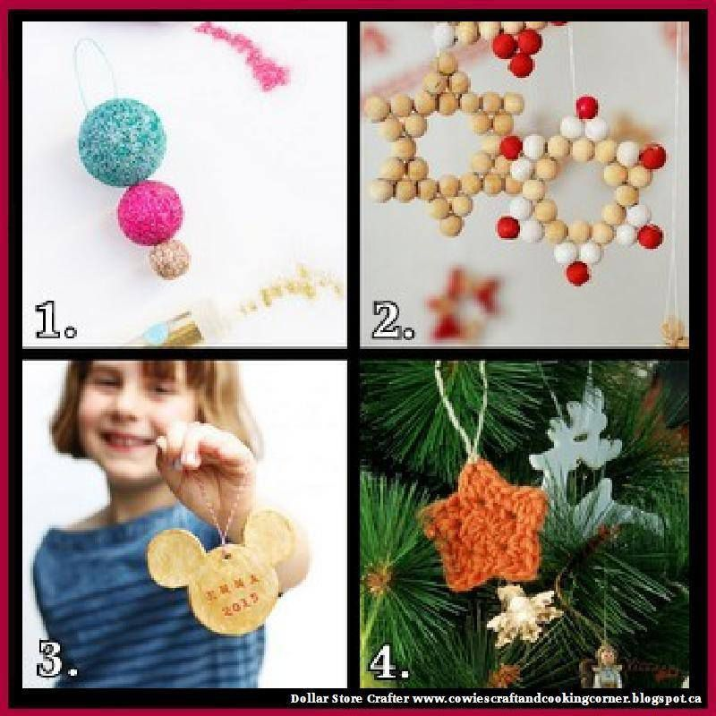 4 Homemade Christmas Ornaments