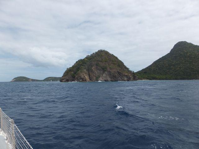 Arrivée sur les îles des Saintes