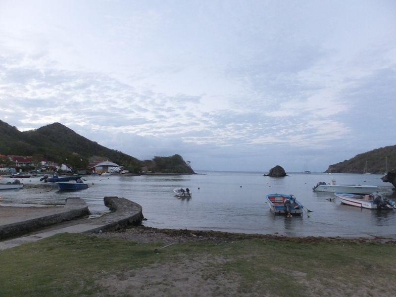Baie de Marigot, et vue du Morne Morel