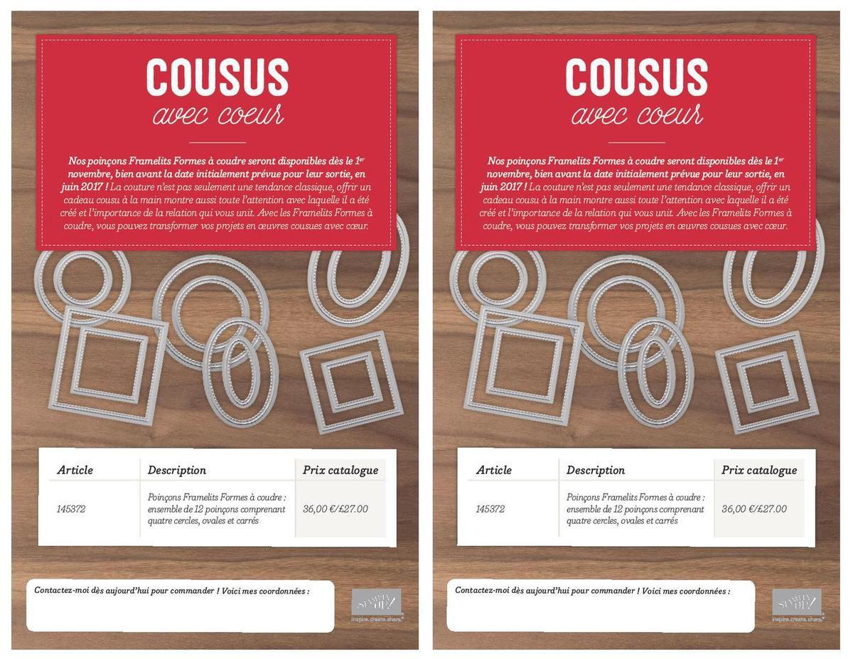 145372 - Poinçons Formes à coudre (12 poinçons Cercle, Ovale et Carré) - 36.00€