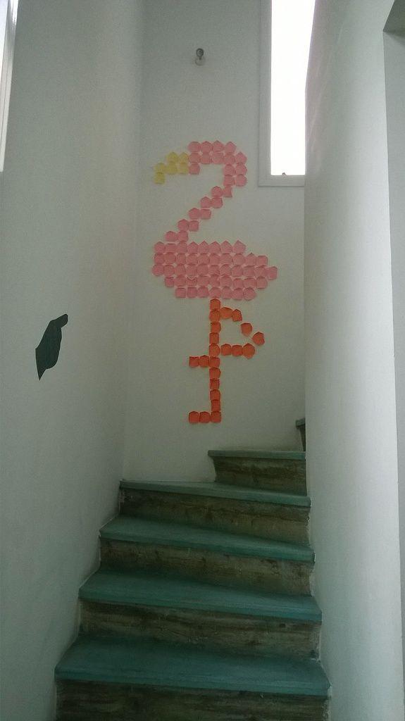 Flamand rose en Post-it