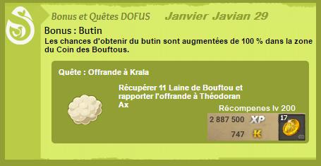 Almanax Janvier Javian Dofus