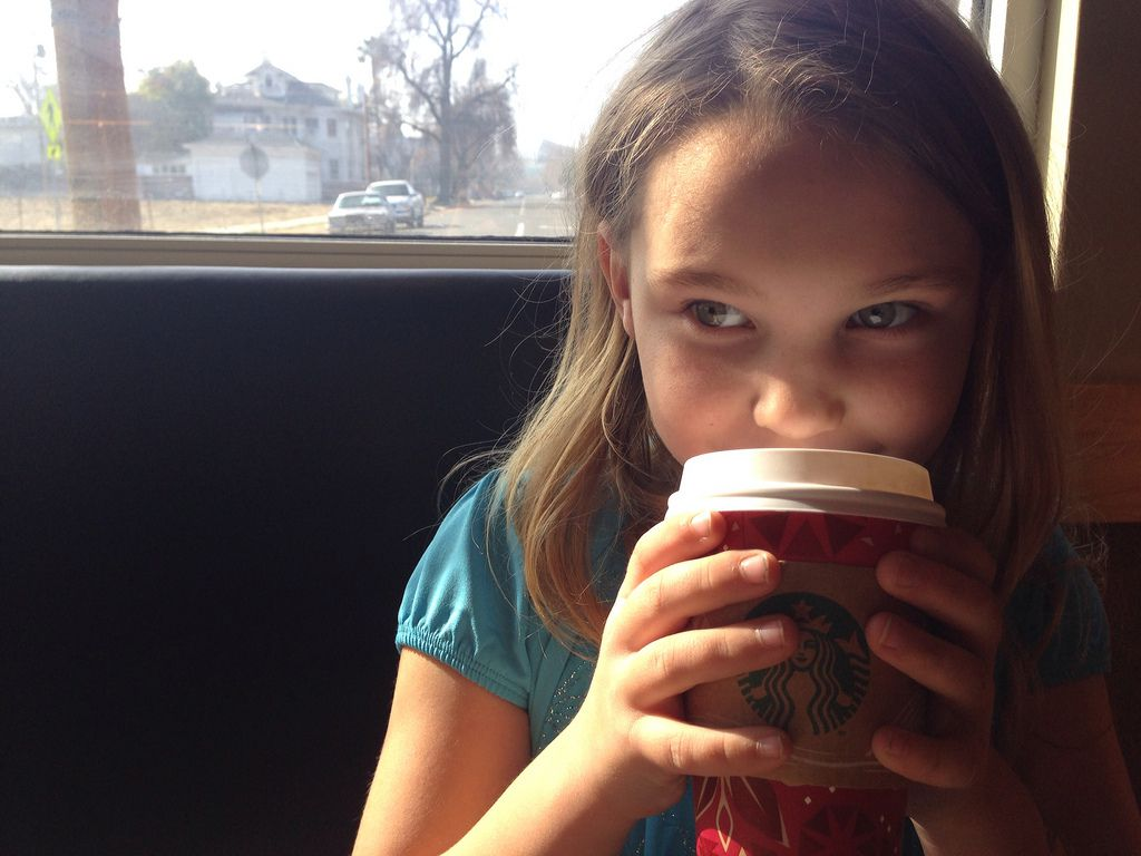Start them young! Coffee is fuel for the thinky majig,
