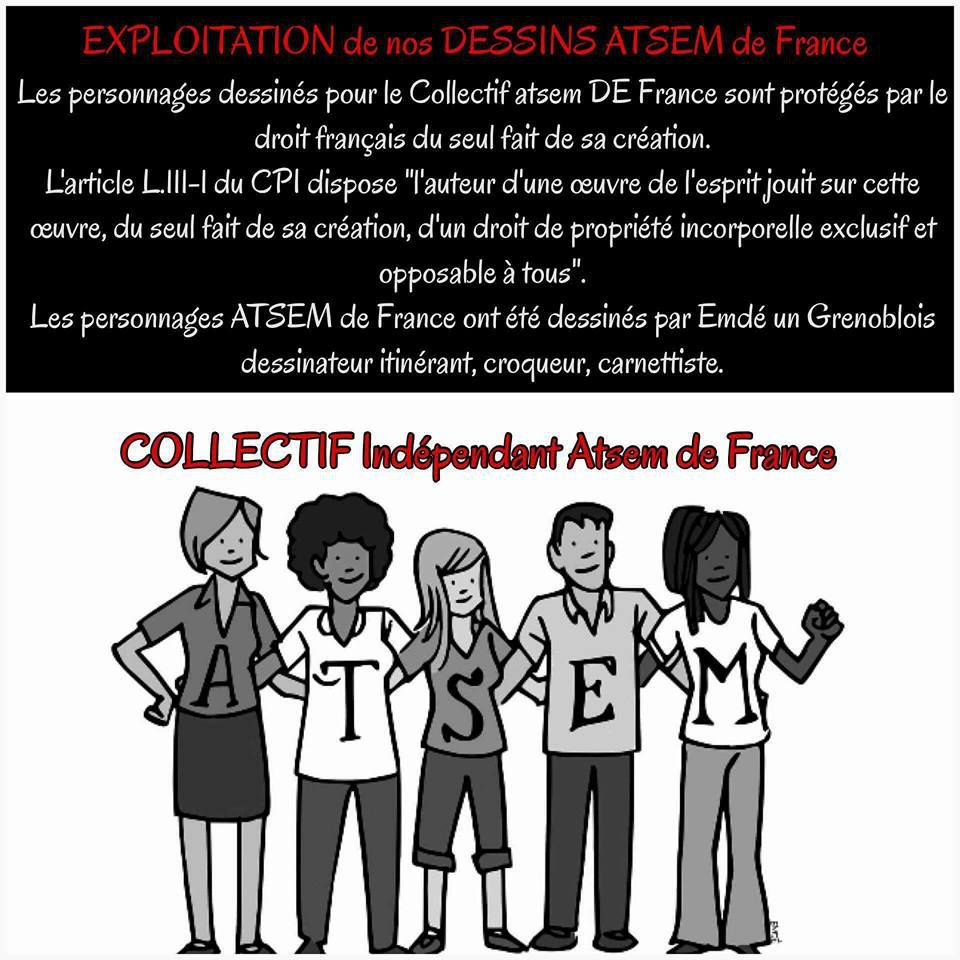 EXPLOITATION DE NOS DESSINS ATSEM DE FRANCE