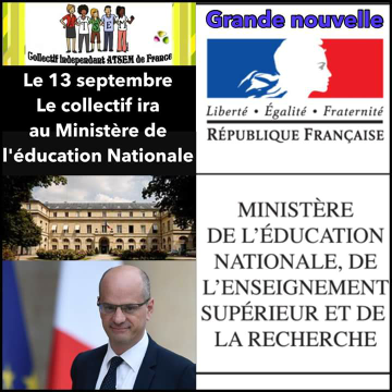 rdv mr le ministre de l ducation national 13 09 2017 atsem de france. Black Bedroom Furniture Sets. Home Design Ideas