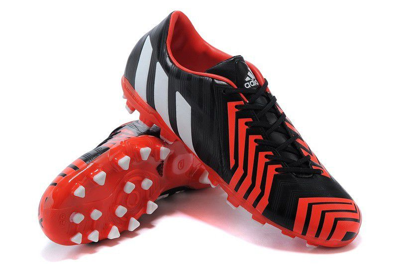 premium selection b2bc7 27196 adidas predator absolion instinct ag leather black red ...