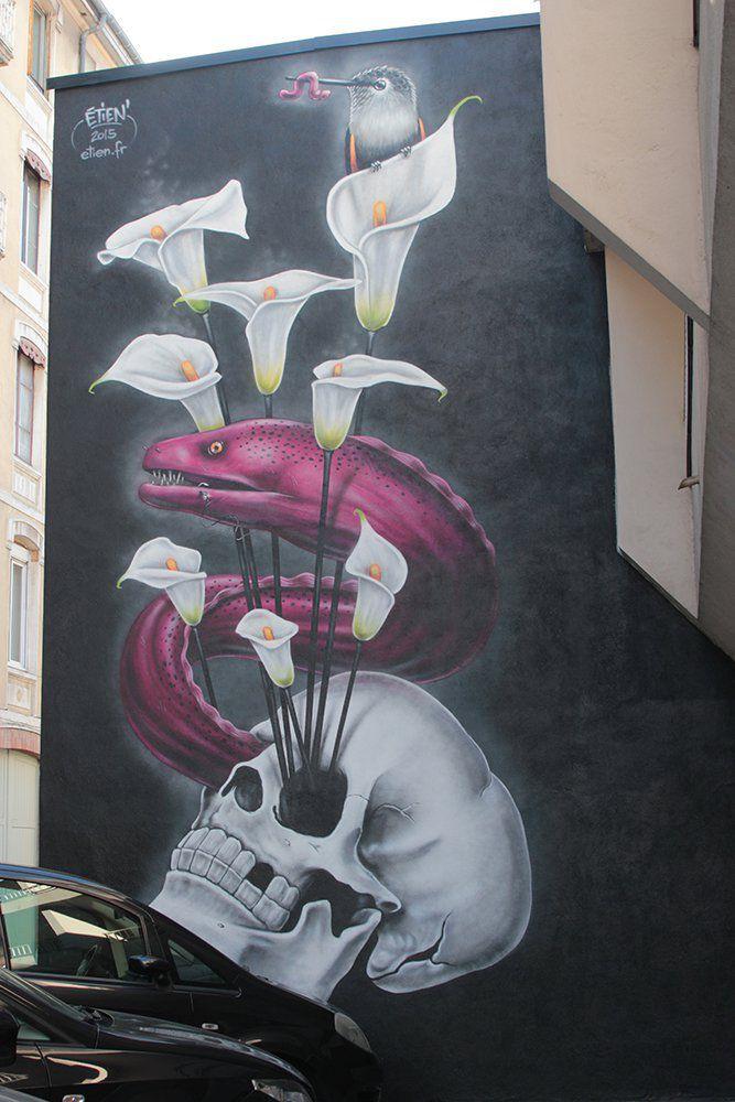 Arômes de Murène - Étien' 13 rue des Bergers - 2015 © Grenoble Street Art Fest