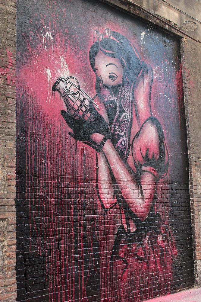 Bad Apple - Goin rue du Phalanstère - 2015 © Grenoble Street Art Fest