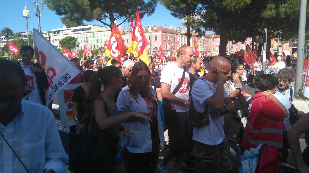 """Photos de la manifestation du 15 septembre pour l'abrogation de la """"Loi travail"""""""