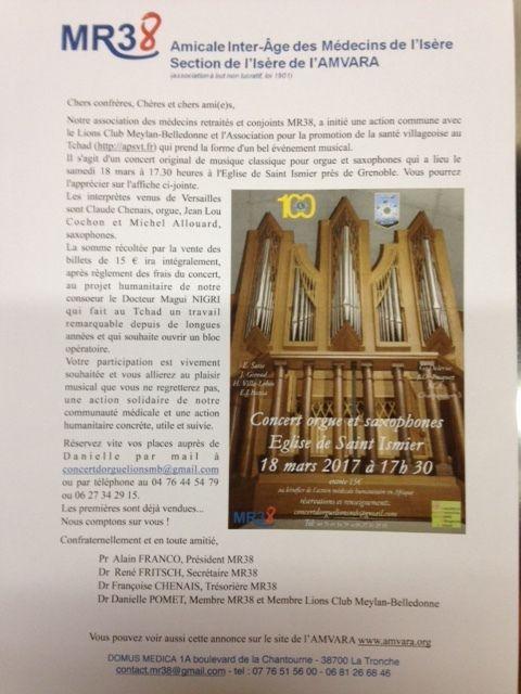 concert orgue et saxophones, 18 mars 2017 Saint-Ismier 38330