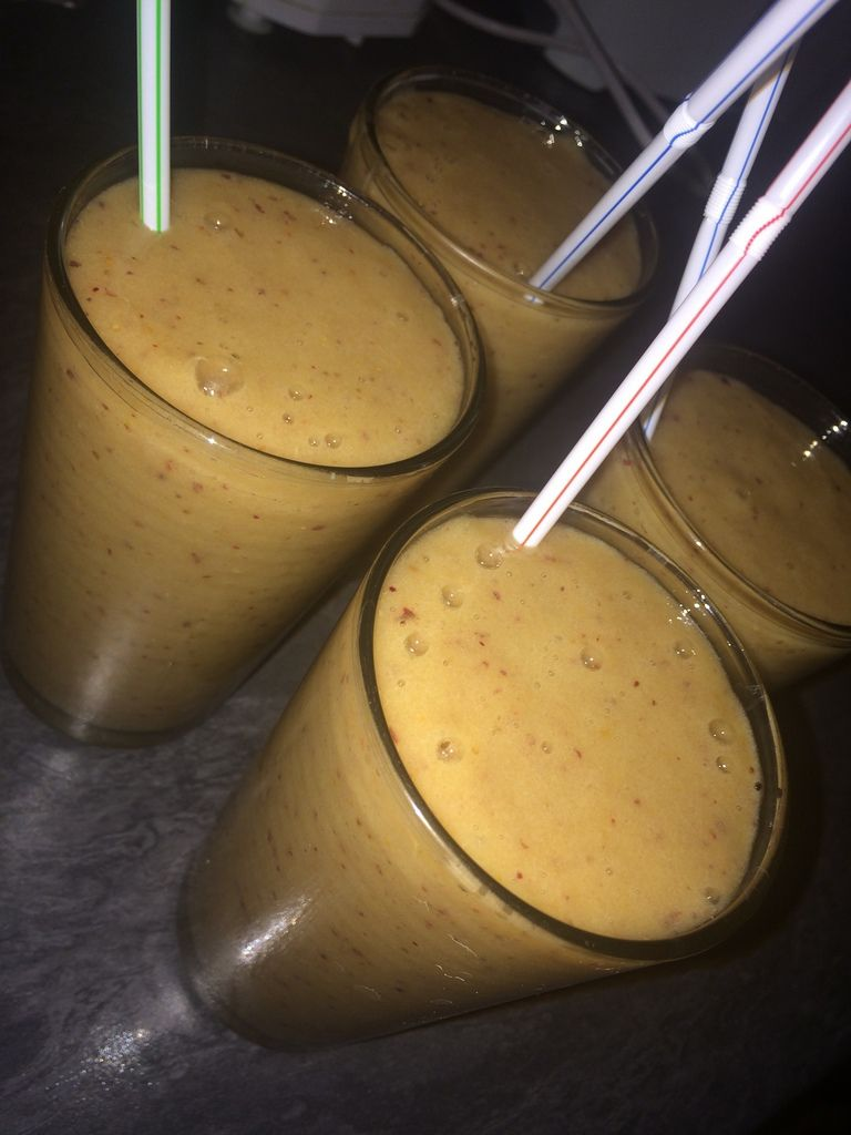 Smoothie figues/pêches/ bananes