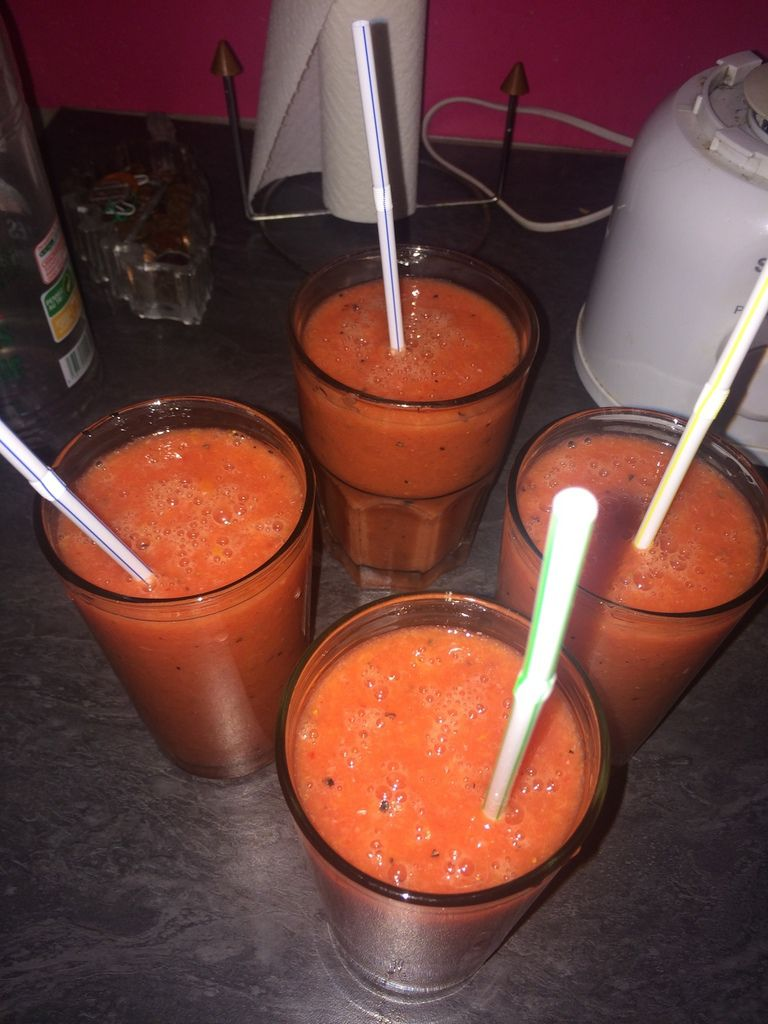 Smoothie fraises oranges fruits de la passion