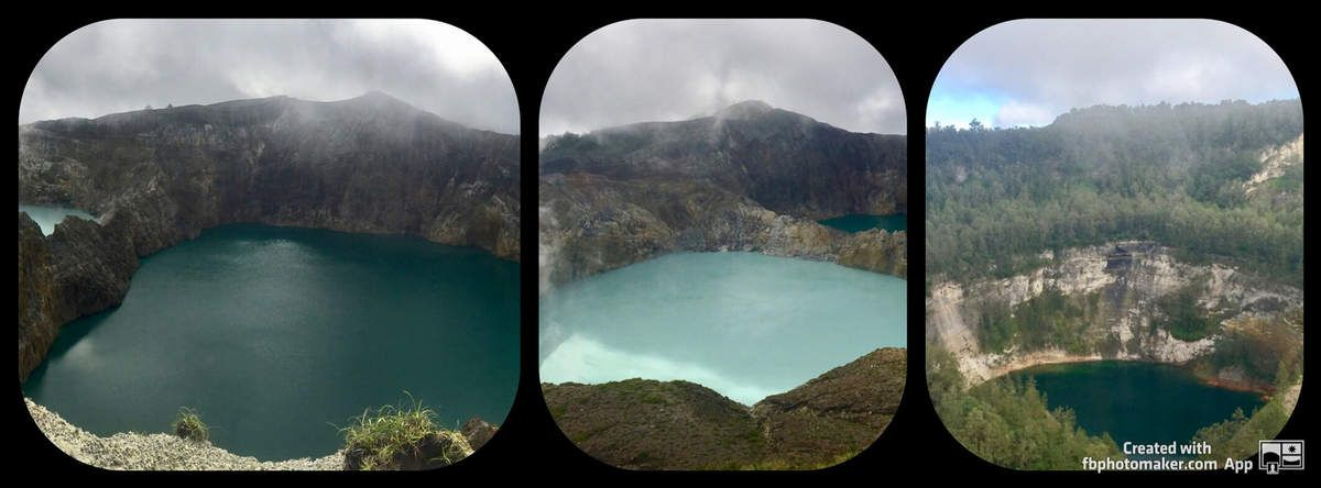 DAY167: Flores, Moni, Kelimutu volcano, 3 color lakes, from Moni to