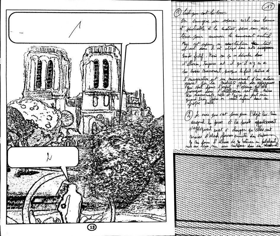 Découpage storyboard des premières pages de la bande dessinée