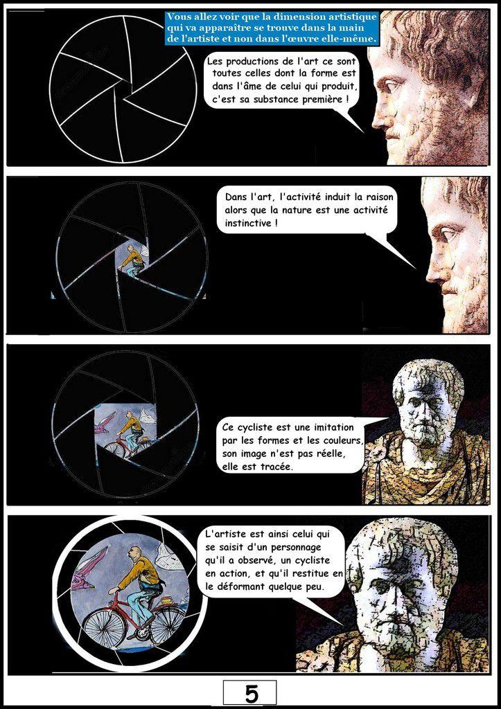 BD &quot&#x3B;ARISTORIES OU L'ODYSSÉE ARTISTIQUE D'ARISTOTE- la philosophie d'Aristote sur le mouvement, le temps, l'espace et l'art