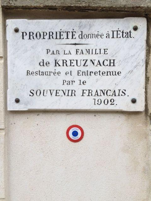 Cimetière rénové par le Comité de Rueil.