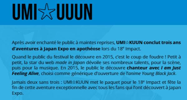 JAPAN EXPO J-28, LES INVITES J-MUSIQUE ET CONCERTS ! 2/2