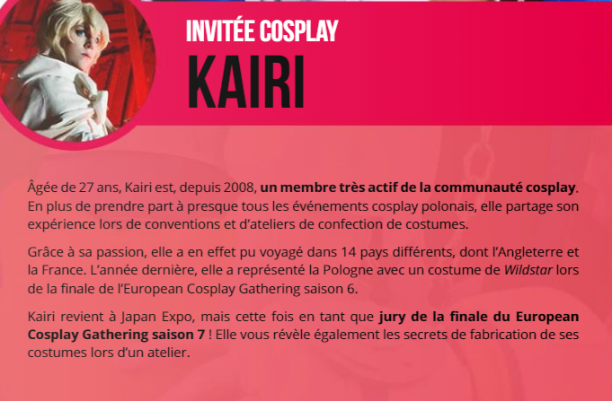 JAPAN EXPO J- 24 PARLONS COSPLAY !