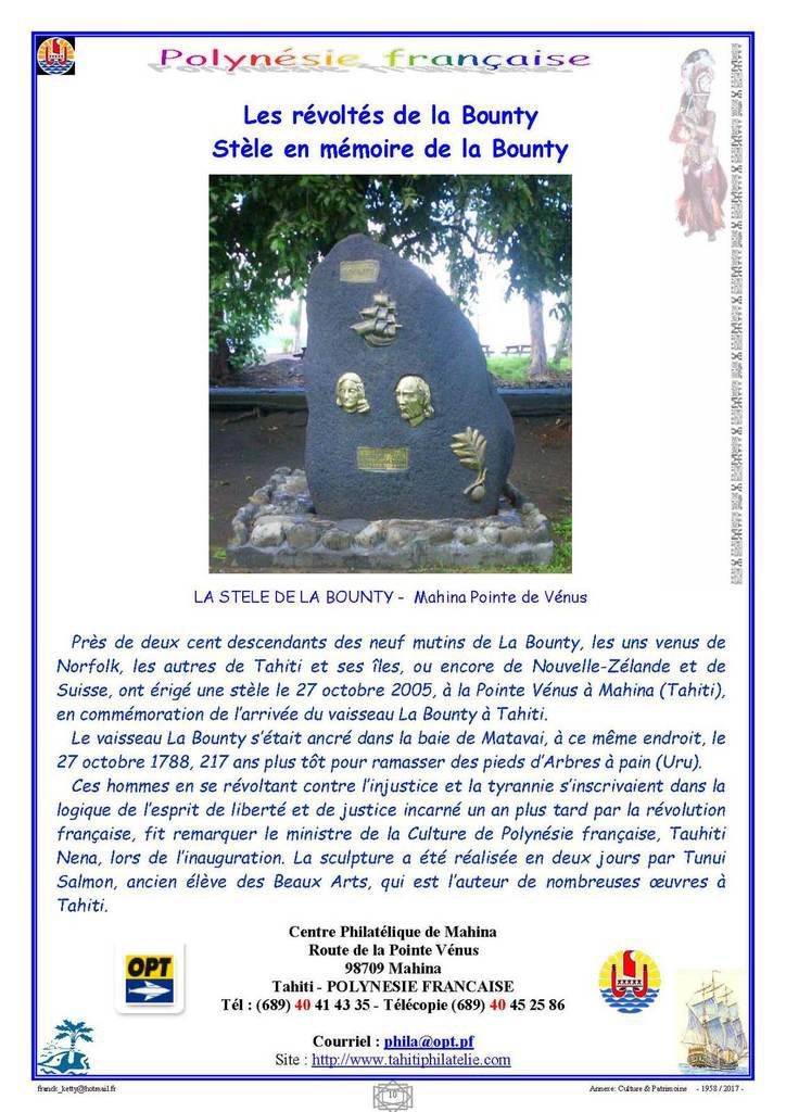 Polynésie Française: Culture et Patrimoine.