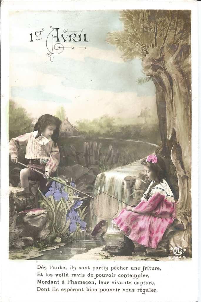 45 - carte identique à la précédente  sauf que la couleur des iris est mauve
