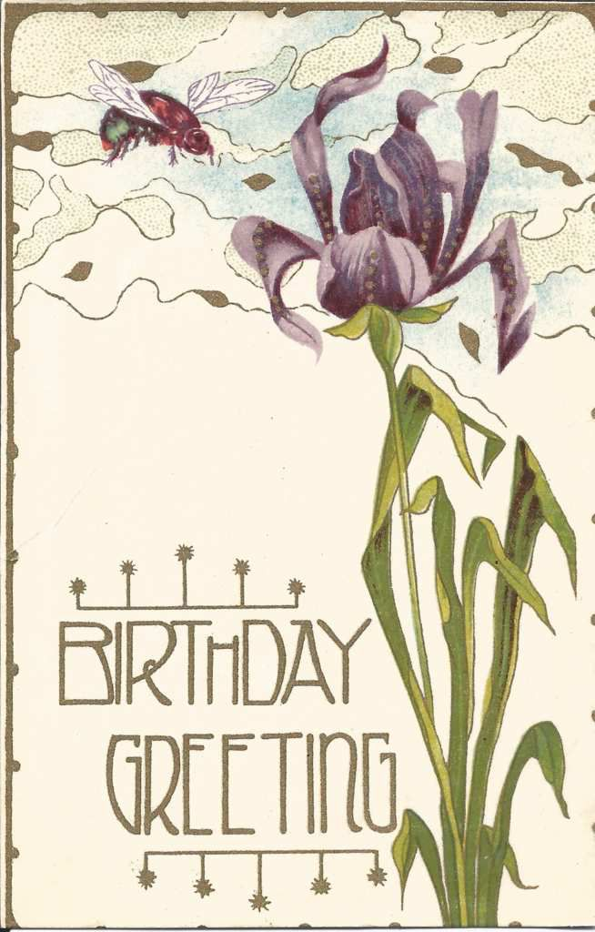 57 - BIRTHDAY GREETING - Printed in Great Britain