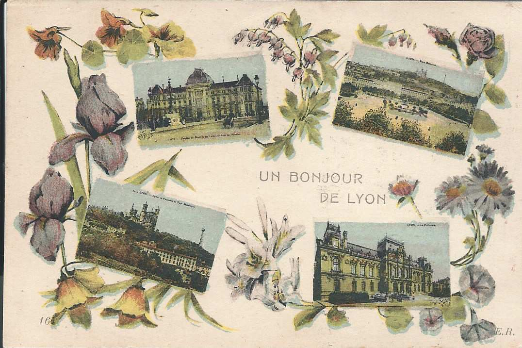 """219 - UN BONJOUR DE LYON  - 7.12.1915 -""""BROUILLARD INTENSE DANS LES RUES...."""""""
