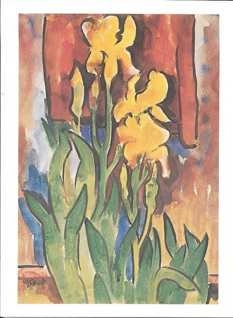 341 - YELLOW IRIS - KARL SCHMIDT-ROTTLUFF (1884-1976) NATIONAL GALLERY OF ART, WASHINGTON