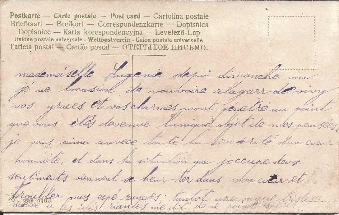 462 - AMITIÉ SINCÈRE  (ce message à peut-être été le début d'une longue histoire...)