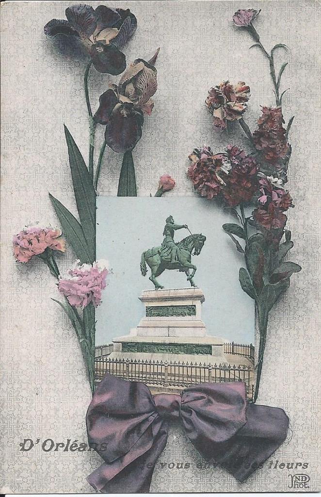 496 - D'ORLEANS, JE VOUS ENVOIE CES FLEURS - 18.01.1919