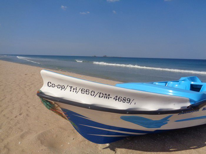 Plage déserte, sable blanc, cocotiers ... Bienvenue à Nilaveli !